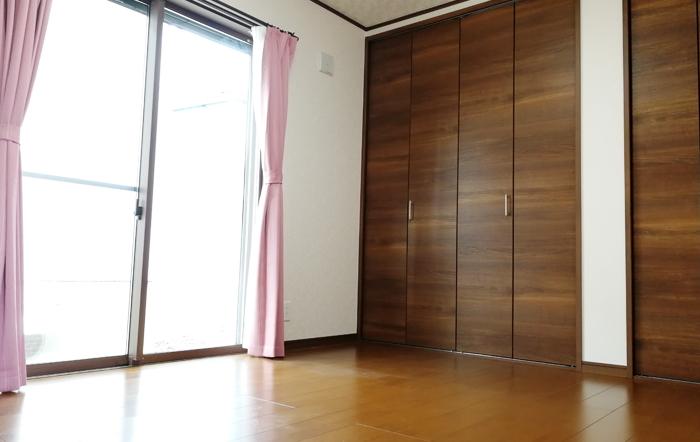 各居室にも充分な収納をスペースがあります