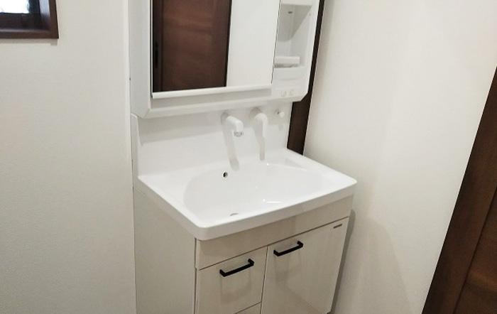 水回り商品は清潔感のある白で統一